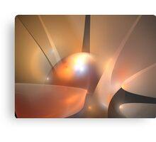 Peach Horizons Metal Print