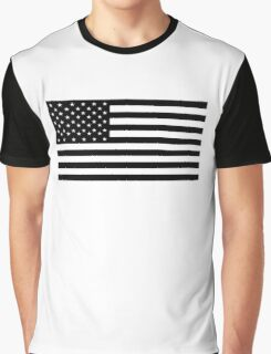 American Flag, STARS & STRIPES, USA, America, Americana, Funeral, Mourning, in Mourning, Black on Black Graphic T-Shirt