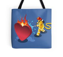 Sick Heart and Fireman Tote Bag