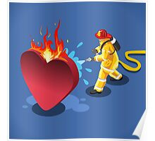 Sick Heart and Fireman Poster
