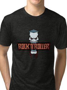 Rock 'N' Roller Skull Tri-blend T-Shirt