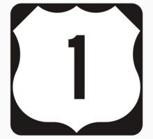 US Route 1 Sign, USA - Regular Version Kids Tee