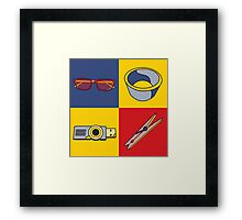 Everyday Objects Pop Art Series Framed Print