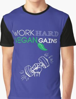 Vegan Work Out Gains Graphic T-Shirt