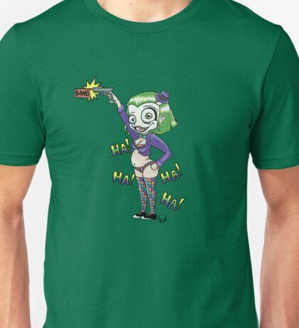 HA! HA! HA! HA! (light color backgrounds) Unisex T-Shirt