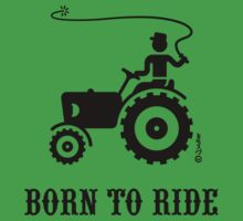 Born To Ride (Tractor / Black) Baby Tee