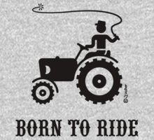 Born To Ride (Tractor / Black) One Piece - Long Sleeve