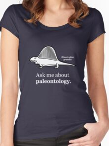 Ask Me About Paleontology Women's Fitted Scoop T-Shirt