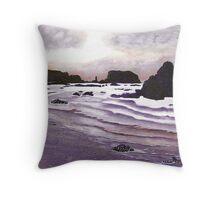 Harris Beach, Oregon USA Throw Pillow
