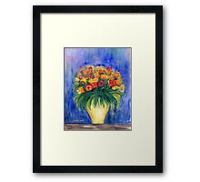 Bouquet in a Vase Framed Print
