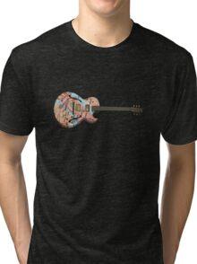 New York  Jazz Guitar Tri-blend T-Shirt