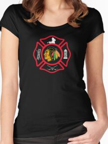 Chicago Fire - Blackhawks style Women's Fitted Scoop T-Shirt