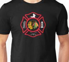 Chicago Fire - Blackhawks style Unisex T-Shirt
