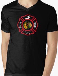 Chicago Fire - Blackhawks style Mens V-Neck T-Shirt