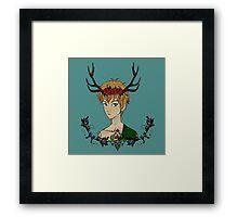 Wild Forest Boy Framed Print