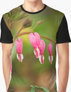 Bleeding Heart Flower Graphic T-Shirt