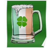 Irish beer mug Poster