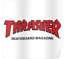 Thrasher Magazine Red Logo Design Poster