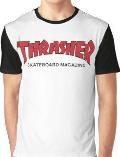 Thrasher Magazine Red Logo Design Graphic T-Shirt