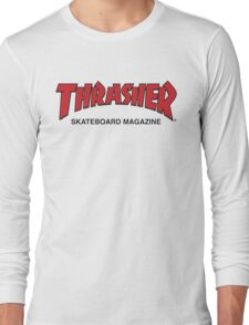 Thrasher Magazine Red Logo Design Long Sleeve T-Shirt