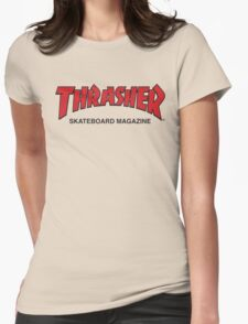 Thrasher Magazine Red Logo Design Womens Fitted T-Shirt