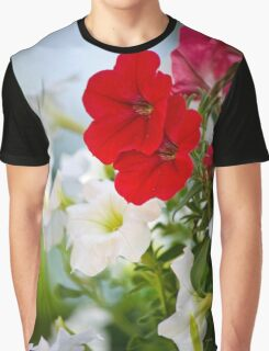 Antique Petunia Flowers Graphic T-Shirt
