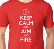 Keep Calm Aim and Fire Hunting Shooting T Shirt Unisex T-Shirt