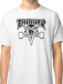 "Thrasher ""666"" Satanic Logo Design Classic T-Shirt"