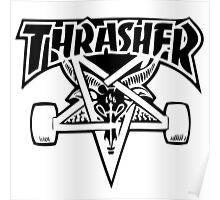 "Thrasher ""666"" Satanic Logo Design Poster"