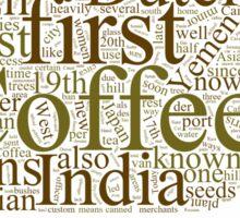 History of Coffee Sticker