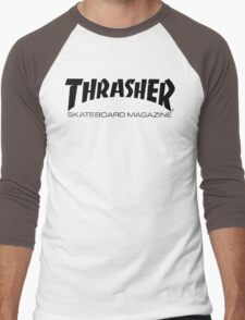 """Thrasher """"Skateboard Magazine"""" Logo Design Men's Baseball ¾ T-Shirt"""