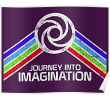 Journey Into Imagination Distressed Logo in Vintage Retro Style Poster
