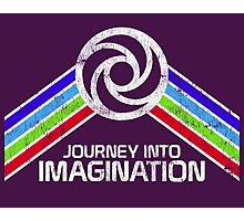 Vintage Journey Into Imagination EPCOT Center Distressed Logo Retro Style Photographic Print