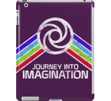 Journey Into Imagination Distressed Logo in Vintage Retro Style iPad Case/Skin