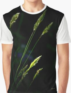 Grass Nature Abstract Graphic T-Shirt