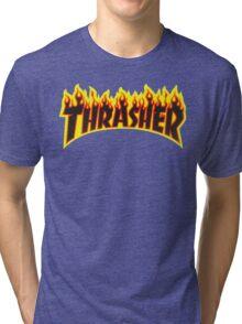 "Thrasher ""Flame"" Logo Design Tri-blend T-Shirt"
