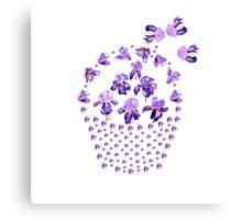 Iris Basket Canvas Print