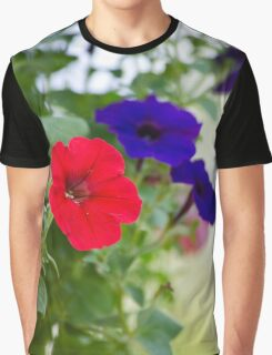 Vintage Petunia Flowers Graphic T-Shirt