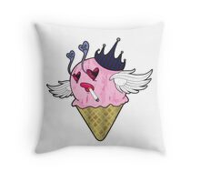 Her Eye Scream Throw Pillow
