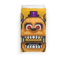Adventure Nightmare Fredbear - FNAF World - Pixel Art Duvet Cover