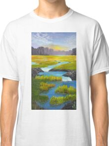 Marsh River Original Acrylic painting Classic T-Shirt