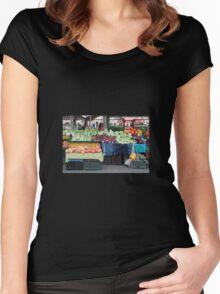 Ljubljana Market in December Women's Fitted Scoop T-Shirt