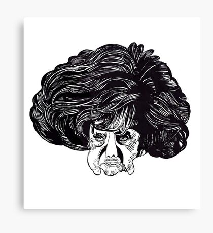 The Woman Whose Head Expanded Canvas Print