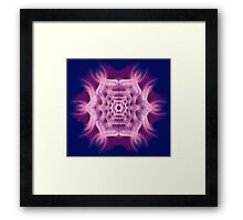 Space Vortex Mandala Framed Print