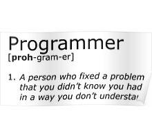 Programmer definition black Poster