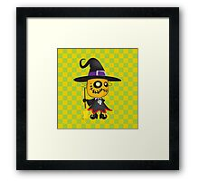 Halloween pumpkin witch Framed Print