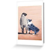 One Tough Sheepdog Australian Shepherd Greeting Card
