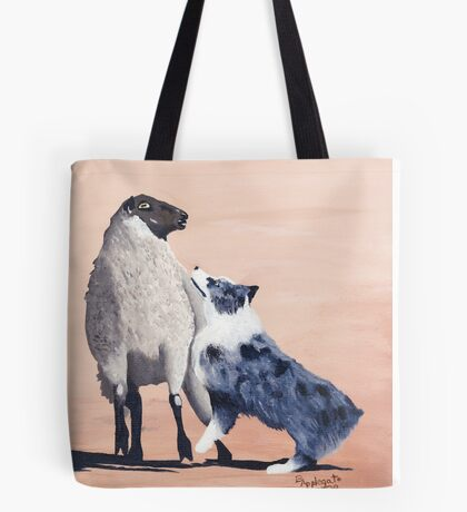 One Tough Sheepdog Australian Shepherd Tote Bag