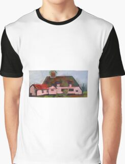 Medieval peasants thatched cottage  Graphic T-Shirt