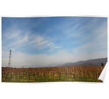 Autumn Landscape in Friuli Poster